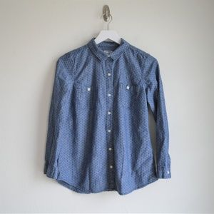 Old Navy Polka Dot Chambray Top